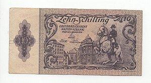 Cédula de 10 schilling da Aústria 1950