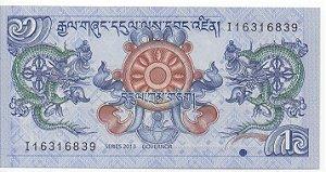 Cédula de 1 Ngultrum do Butão