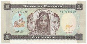 Cédula da 1 Nakfa Eritrea