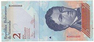 Cédula de 2 Bolívares da Venezuela anverso