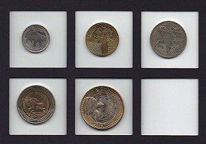 Série de moedas FAUNA 50,100, 200, 500 e 1000 pesos da Colômbia