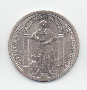Moeda de 100 escudos de Portugal - Cortes de Coimbra - 600 Anos da Batalha de Aljubarrota