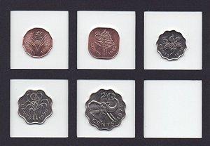 Série com 5 moedas da Swazilandia