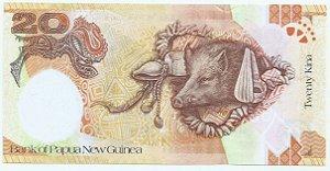 Cédula da Papua Nova Guiné - 20 Kina