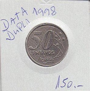 Moeda de 50 centavos 1998 Data dupla