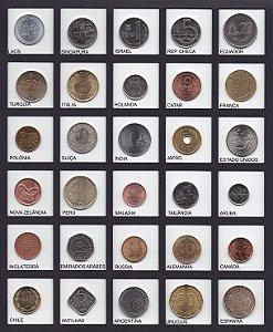 Lote com 30 lindas moedas de países diferentes