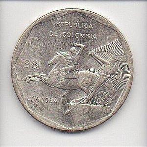 Moeda de 10 Pesos da Colômbia - 1981