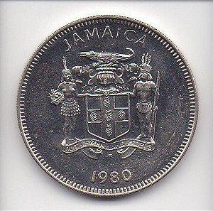 Moeda de 20 Cents de 1980 - Jamaica