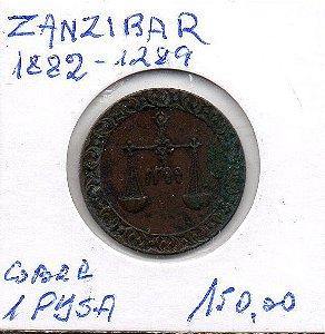 Moeda de 1 Pysa Zanzibar 1882