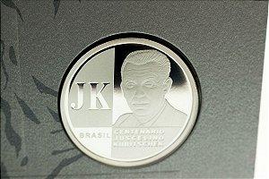 Moeda de 2 Reais Comemorativa dos 100 Anos do Nascimento de Juscelino Kubitschek 1902 - 2002