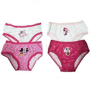 Calcinha Infantil Lupo Disney 4 Unidades