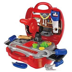 Brinquedo Maleta Construtor Workshop Junior Profissões