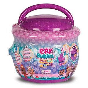 Cry Babies Magic Tears Paci House Cry Baby Boneca Surpresa POTE ROXO