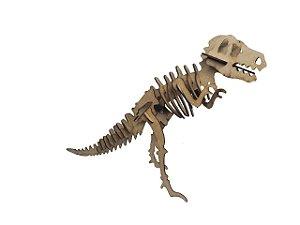 Quebra-cabeça de madeira 3D Dinossauro Tiranossauro T rex