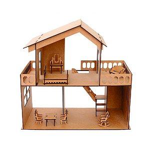 Casa de Boneca Madeira Quebra Cabeça Madeira Casa de Boneca de Montar Aquarela Brinquedos