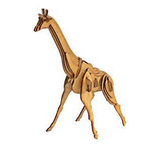 Quebra cabeça de madeira Animais 3D Girafa
