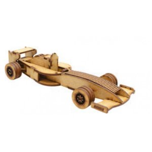 Quebra Cabeça De Madeira Carros 3D Formula 1