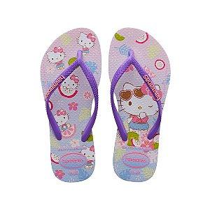 Havaianas Infantil Hello Kitty Lilás Chinelo Original