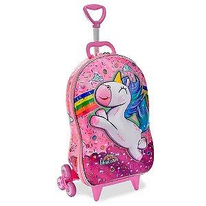 Mochila Infantil de Rodinha Mochilete Cute Unicorn Sweet MaxToy