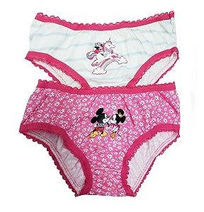 Calcinha Infantil Lupo Tema Da Disney Kit Com 2 Calcinhas MINNIE 3