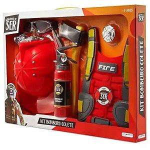 Brinquedo de Bombeiro Brincando de ser Bombeiro Multikids
