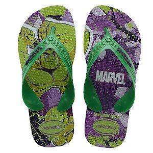 Havaianas Infantil Top Marvel Hulk Chinelo Original