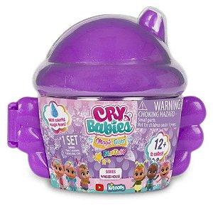 Cry Babies Magic Tears Winged House Cry Baby Boneca Surpresa POTE ROXO