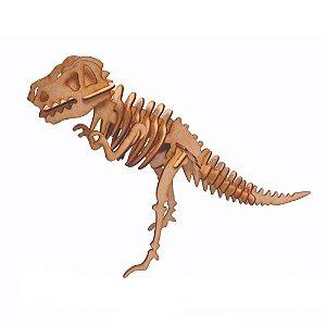 Quebra Cabeça de Madeira 3D Dinossauro Aquarela
