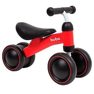 Bicicleta De Equilíbrio Infantil Bicicleta Buba Vermelha