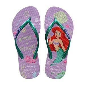 Havaianas Infantil Pequena Sereia Slim Princesa Disney Chinelo Original