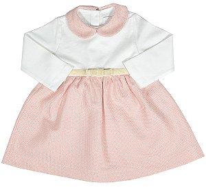 Vestido Bebê Menina Empório Baby rosa rochelle