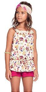 Conjunto infantil Charpey regata florida + shorts frutili