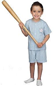 Pijama infantil masculino Cara de Criança baseball