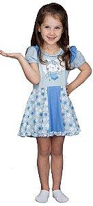 Pijama infantil CaraCriança camisola luli floconeve (frozen)