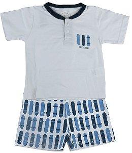 Pijama infantil masculino Cara de Criança skate -