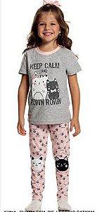 Pijama infantil feminino Sleeping Pill gatinhas