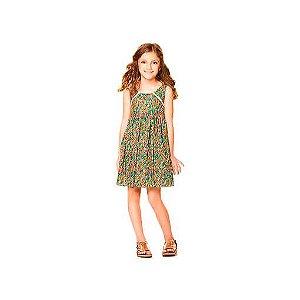 Vestido infantil que te encante floral coral