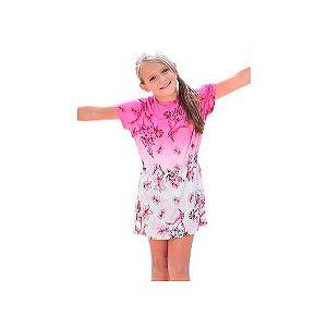 Vestido infantil floral degrade viscose