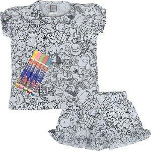 Pijama infantil Win Design pintar verão brinquedo