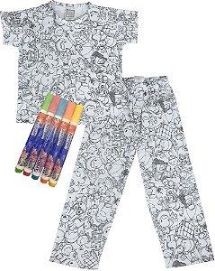 Pijama infantil Win Design de pintar primavera UNISSEX floresta