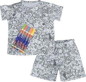 Pijama infantil Win Designpintar verão UNISEX brinquedo-