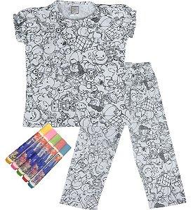 Pijama infantil feminino Win Designpintar  primavera menina