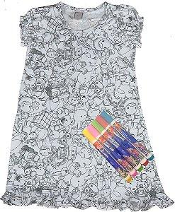 Camisola infantil feminina Win Design de pintar -