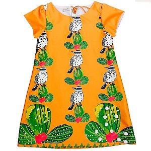 Vestido infantil Promoções Guapachic cactos