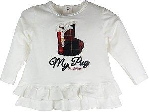 Conjunto infantil Mini Classic blusa botinhas + legging
