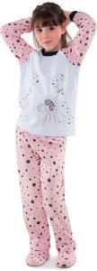 Pijama infantil Dedeka flanelado moletinho dálmatas dedeka