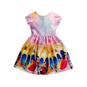 Vestido infantil estampa exclusiva princesas - guapachic