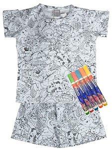 Pijama infantil Win Design pintar verão UNISEX floresta