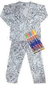 Pijama infantil Win Design pintar inverno floresta UNISEX