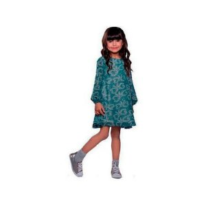 Vestido infantil Menina Que te encante doçura estrelas